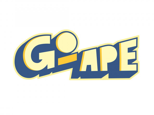 logo for Go Ape words in yellow and blue