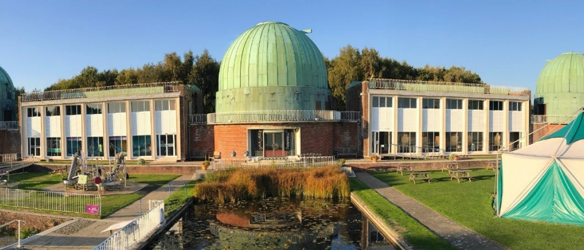The science centre observatory from aerial view
