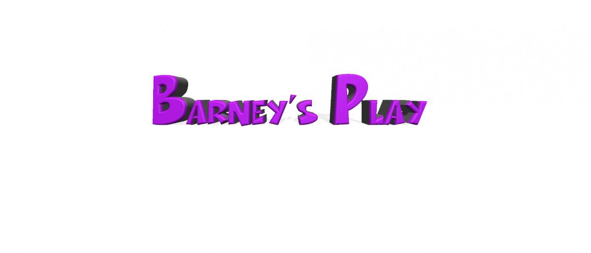Barneys play logo in purple writing