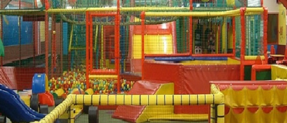 Inside Clambers soft play