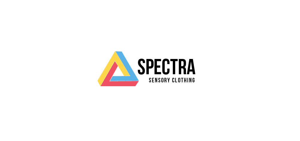 Spectra Sensory clothing logo with yellow, red and blue triangle