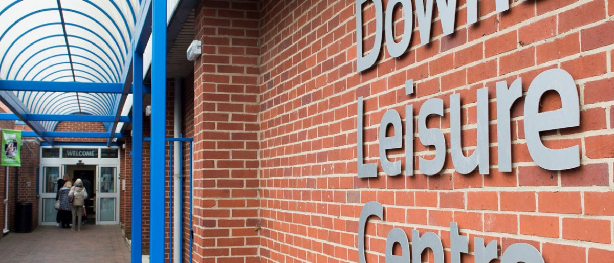 The entry way to downs leisure centre